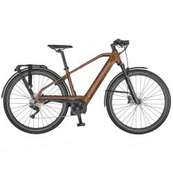 Vélo électrique urbain 28p alu - SCOTT 2021 Silence eRide 30 Men 625 - Marron métalisé décor noir : 80mm