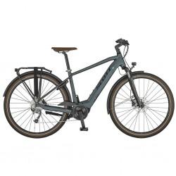 Vélo électrique urbain 28p alu - SCOTT 2021 Sub Active eRide Men 400 - gris mat décor noir : 1x9v