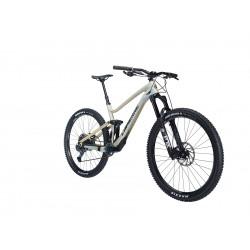Vélo VTT 29p alu - LAPIERRE 2021 Zesty CF 6.9 CF - Beige nacré décor noir : 150/150mm