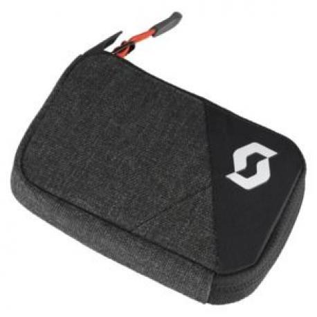 Portefeuilles SCOTT Bag Wallet Small gris anthracite décor noir