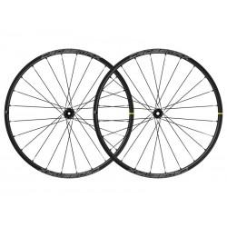 Roues à pneu 29p MAVIC vtt Crossmax 29 SL Boost ID360 SH noire décor blanc
