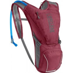 Sac hydratation femme - CAMELBAK Aurora - rouge bordeaux décor gris - nouveau réservoir Crux 2.5L et rangement 2.5L - 2