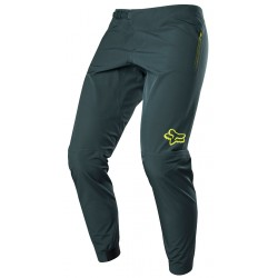 Pantalon imperméable FOX vtt Ranger 3L Water vert foncé décor jaune fluo