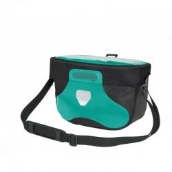 Sacoche de guidon ORTLIEB pvc Ultimate6 Free M F3411 bleu turquoise décor noir