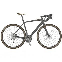 Vélo gravel 700 alu - SCOTT 2021 Speedster Gravel 40 - Anthracite décor bronze : 2x10v