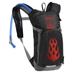 Sac hydratation enfant - CAMELBAK Mini Mule - noir décor rouge flammes - nouveau réservoir Crux 1.5L et rangement 1.5L - 2