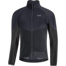 Veste coupe-vent - GORE Phantom GoreTex Infinium - gris décor noir : membrane coupe-vent - très respirante et déperlante -