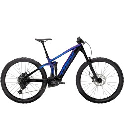 Vélo électrique VTT 29p TREK 2021 alu Rail 5 625 violet et noir décor violet et noir