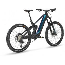 Vélo VTT électrique 29/27.5 carbone STEVENS 2021 E Inception FR 9.7 GTF 726 - noir mat décor bleu nuit irisé : 180/170