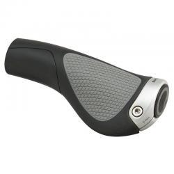 Poignées de guidon ERGON caoutchouc Comfort GP1-S 27 ergonomic noir décor gris