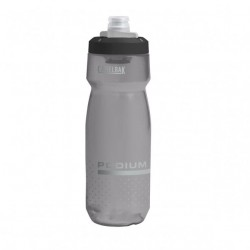 Bidon - CAMELBAK Podium 0.7 Litre - gris fumé transparent : tétine gros débit avec valve et vanne d'ouverture - tétine