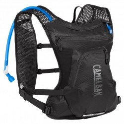 Sac hydratation route ou vtt - CAMELBAK Chase Bike Vest - noir - réservoir Crux 1.5L et rangement 2.5L - poches zippées -