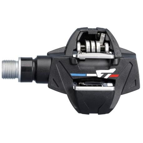 Pédales TIME composite vtt gravel Atac XC6 noir décor tricolore