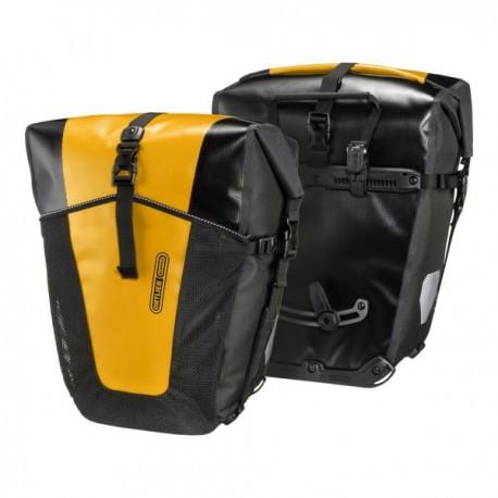 Sacoches ORTLIEB arrières latérales Back Roller Pro Classic F5354 noire décor jaune