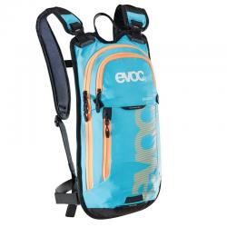 Sac à dos hydratation EVOC all mountain Stage 3L bleu ciel néon décor orange