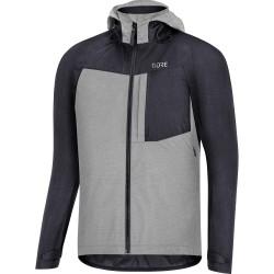 Veste imperméable - GORE C5 Trail GoreTex - gris clair décor noir : membrane imperméable