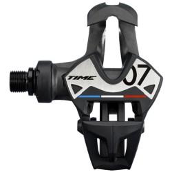 Pédales TIME carbon route Xpro 7 noire décor argent