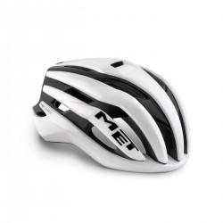Casque route - MET Trenta Mips - Blanc brillant décor noir