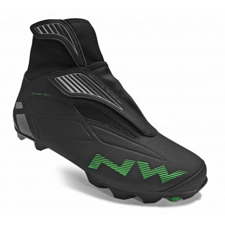 Chaussures NORTHWAVE vtt hiver Husky noir décor vert