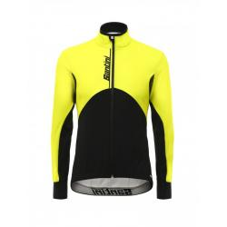 Veste thermique SANTINI hiver Impero jaune fluo décor noir