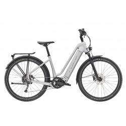 Vélo électrique vtc urbain 27.5p TREK 2021 alu Allant+ 7 Lowstep 500 argent QuickSilver mat décor miroir