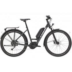 Vélo électrique vtc urbain 27.5p TREK 2021 alu Allant+ 5 Lowstep 500 anthracite brillant décor argent cadre ouvert