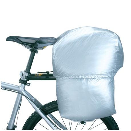 Housse étanche TOPEAK antipluie Rain Cover pour sacoche arrière MTX Trunk EXP et DXP avec sacoches latérales