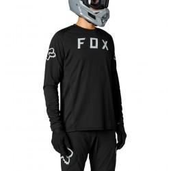Maillot manches longues - FOX Defend - noir : tissu TruDri durable