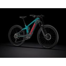 Vélo électrique VTT 29p carbon - TREK 2021 Rail 9.8 XT 625 - Bleu Nautical Décor noir brillant et rouge: av160 ar150