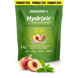 Boisson de l'effort - OVERSTIM'S Hydrixir Antioxydant - Thé-Pêche - sans acidité - Seau 3000g.