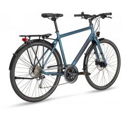 Vélo urbain route 28p alu STEVENS Galant Lite Gent bleu argent décor bleu acier et noir