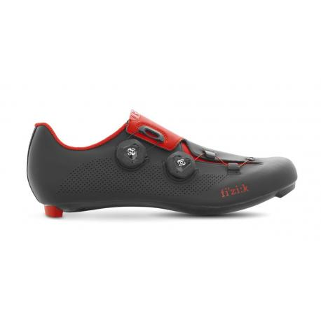 Chaussures FIZIK route R3 Aria noir mat décor rouge