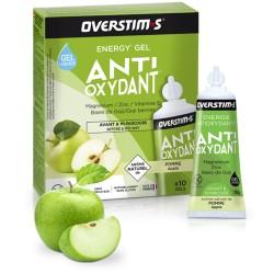 Gel énergétique pendant l'effort - OVERSTIM's Antioxydant liquide sans gluten - Pomme verte - Boîte 10 tubes.