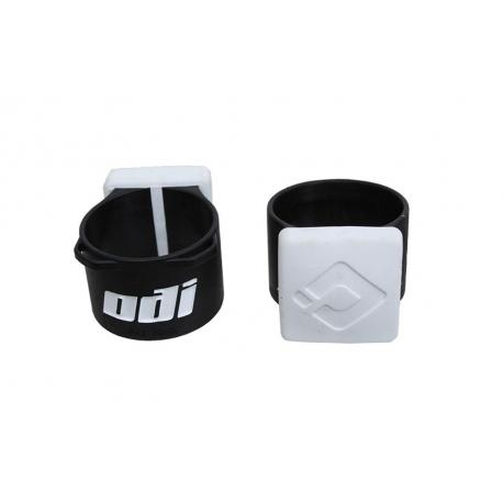 Butées ODI caoutchouc Bumper 35 blanc noir décor blanc
