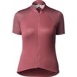 Maillot manches courtes femme - MAVIC Sequence Graphique - rouge terre : tissu léger et respirant