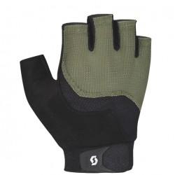 Gants courts - SCOTT Essential - vert kaki décor noir