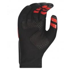Gants longs vtt - SCOTT Gravity - gris décor noir et rouge : paume Clarino renforcée et anti-dérapante - renforts sur la