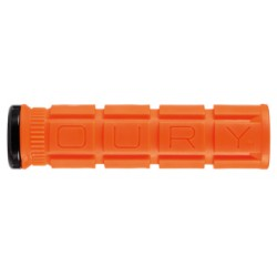Poignées de guidon OURY caoutchouc V2 Grip Lock-on orange blaze