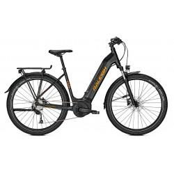 Vélo électrique VTC Femme 27P - RALEIGH Dundee LTD - Noir minéral mat décor orange : 1x9v