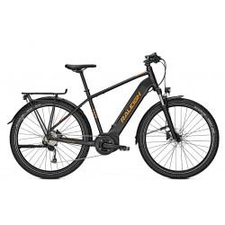Vélo électrique VTC Homme 27P - RALEIGH Dundee LTD - Noir minéral mat décor orange