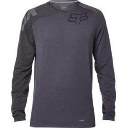 T-shirt manches longues FOX vtt Distinguish Tech Tee gris décor noir
