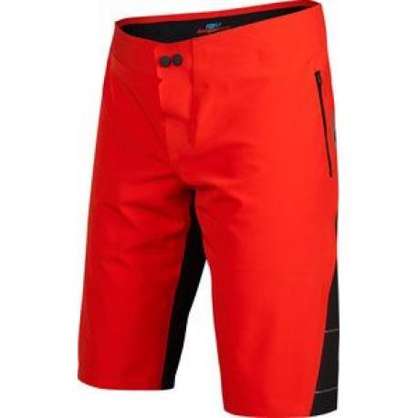 Short imperméable FOX vtt Downpour rouge décor noir