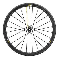 Roue à pneu 700 MAVIC route Ksyrium Pro Disc 25 noire décor gris avant