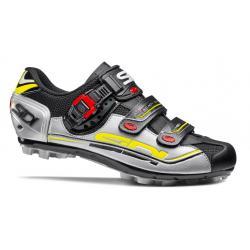 Chaussures SIDI vtt Eagle 7 noir décor gris et jaune fluo