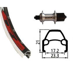 Roue à pneu arrière 700 CLASSIQUE vtc moyeu Shimano LX 8