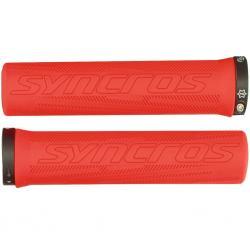 Poignées de guidon SYNCROS vtt Pro Lock-on rouge néon