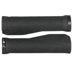 Poignées de guidon SYNCROS vtt ville ergonomiques Comfort Lock-On noir décor gris