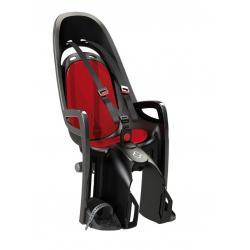 Porte-bébé HAMAX arrière sur porte-bagage Zenith noir décor rouge