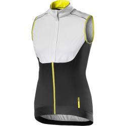 Gilet sans manches MAVIC femme Vision H2O blanc décor noir et jaune