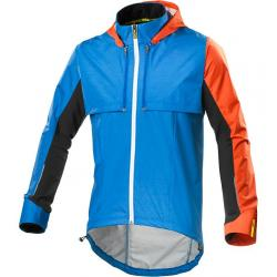 Veste coupe-vent MAVIC Crossmax Ultimate Convertible bleu décor orange et noir
